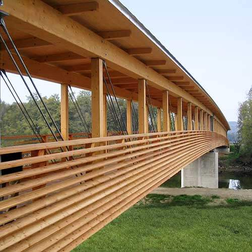 Lux Bau Referenz Holzbrücke Hainfeld